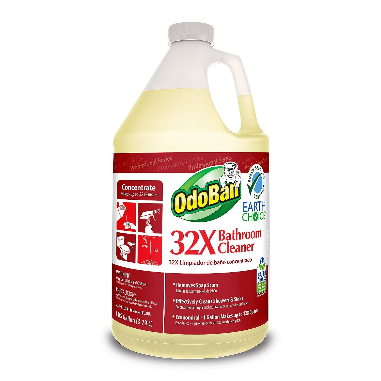 Amazon.com : OdoBan Earth Choice 32X Bathroom Cleaner Concentrate (1 gal.) - (Original from manufacturer - Bulk Discount available) : Grocery & Gourmet Food