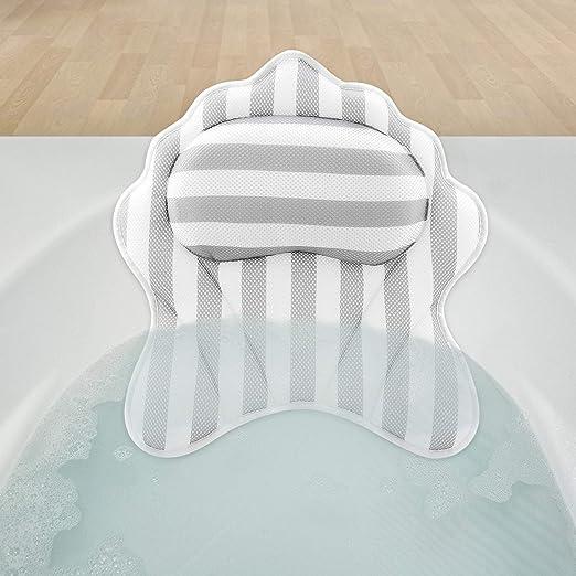 Badewannen Kissen Bade Kissen Nackenkissen Wannen Kissen Keilkissen weiß