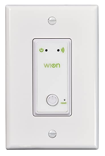 Indoor Light Timer Switch: WiOn Indoor Wi-Fi Light Switch, Wireless In-Wall Switch, Programmable Timer,Lighting