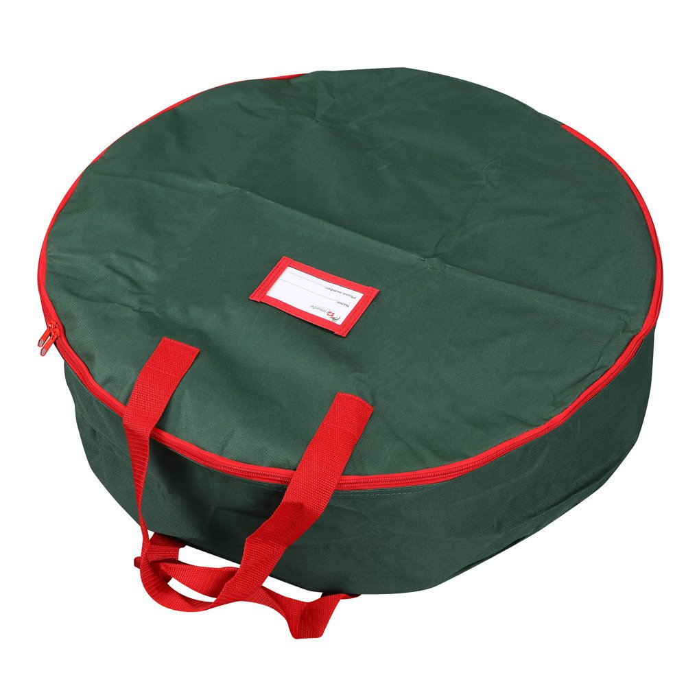 """Primode Xmas Wreath Storage Bag with Handles (Durable Polyester Storage Bag for 30"""" Holiday Wreaths) (Green) by Primode"""