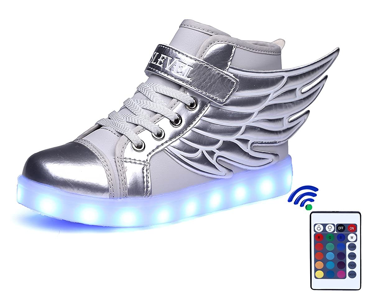 Amazon.com | SLEVEL 16 Colors LED Light Up Shoes USB Flashing Sneakers for Kids Boys Girls(1100SPink25) | Sneakers