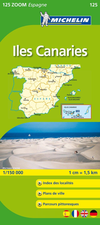 Carte Michelin Zoom Espagne.Amazon Fr Carte Zoom Iles Des Canaries Collectif