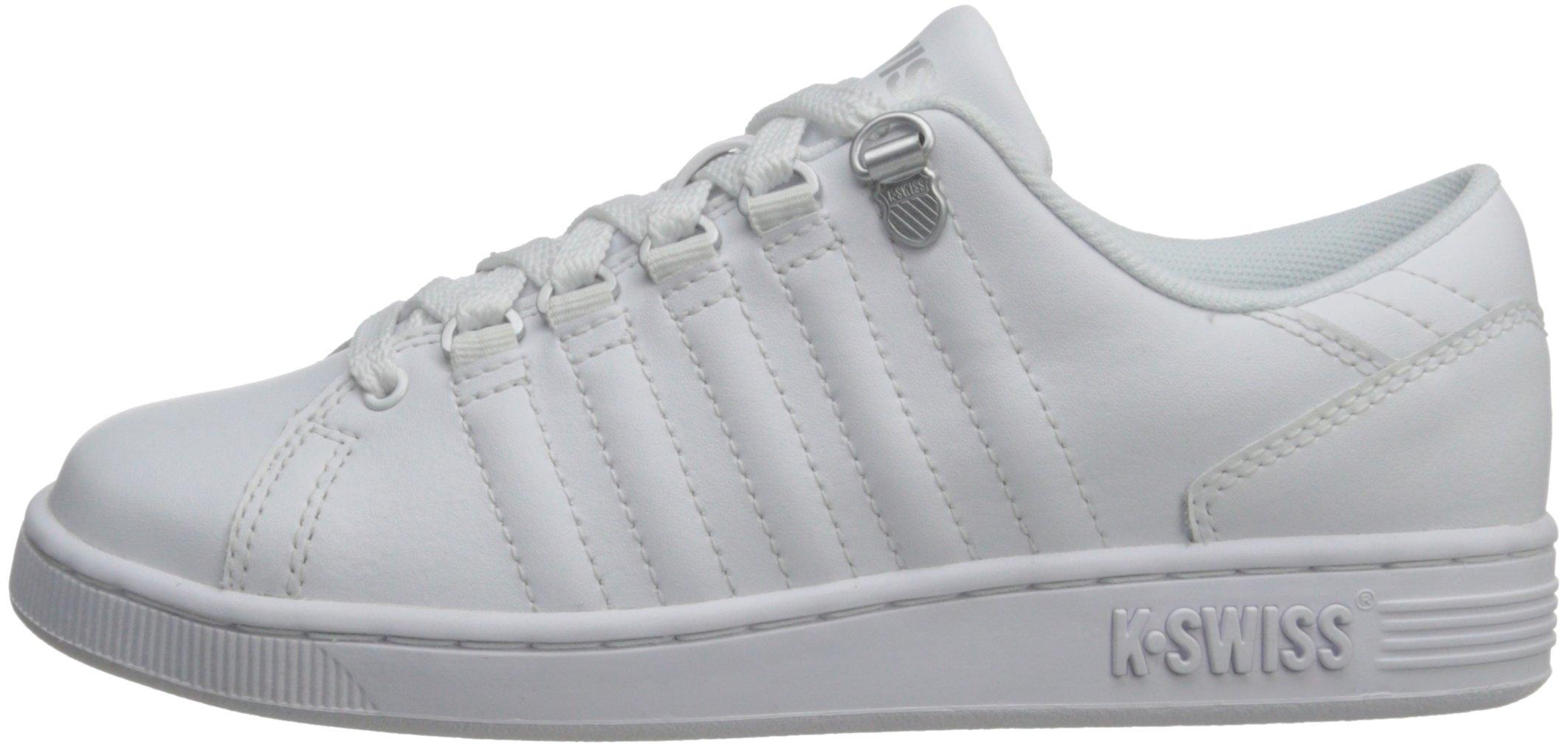 K-Swiss 8110 Lozan Sneaker (Big Kid),White/White/Silver,3.5 M US Big Kid by K-Swiss (Image #5)