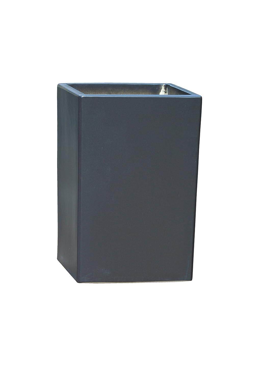 Großer Pflanztopf Pflanzkübel eckig frostsicher Größe L 30 x B 30 x H 46 cm, Farbe Anthrazit, Form 246.046.70 Pflanzkübel quadratisch Qualität von Hentschke Keramik