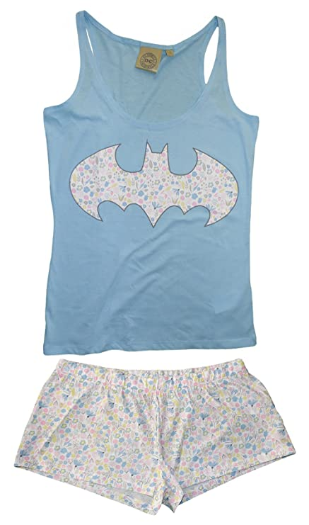 Ladies Marvel D C Comics Super Heros Pyjamas Lounge Batman short PJ/'s 8-22