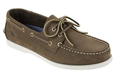 Men's Leeward Boat Shoe Tan Blue 13 M