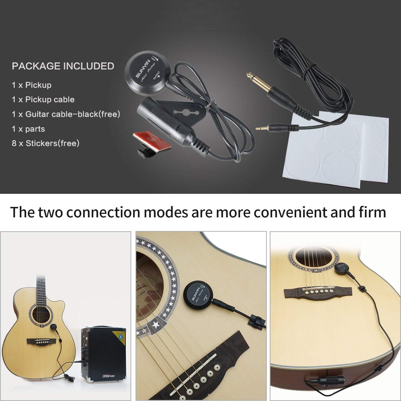 Tbest Transductor de Recogida de Guitarra Ac/ústica,Transductor Guitarra Viol/ín Ukelele Mini Piezo Pickup Contacto Transductor de Micr/ófono para Guitarra Ac/ústica Viol/ín Ukelele