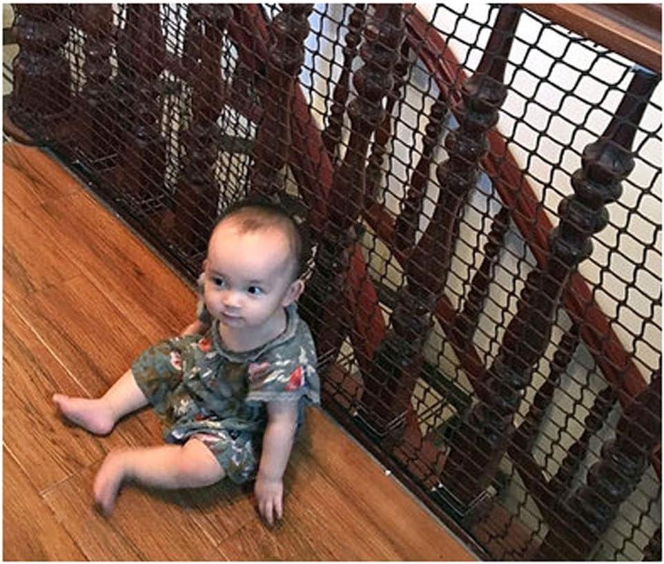 AEINNE Red Seguridad Balcones,Red Cuerda Negra Seguridad Escaleras Escalera Bebe Terraza de Terraza Proteccion Niños Proteccion Protección Gatos para Balcones Malla Nylon Decoracion Blanca: Amazon.es: Hogar