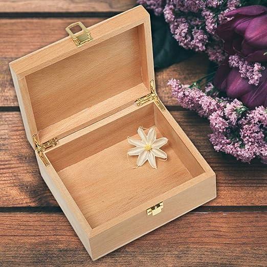 Rikey Caja de Madera con Tapa – Caja de Almacenamiento de Madera con Tapa, Caja de Almacenamiento de Madera – Cajas Decorativas con Tapas de Almacenamiento Normal: Amazon.es: Hogar