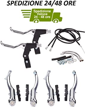 Kit Freno V-Brake + Palancas Freno de Aluminio + Cable y Vaina ...