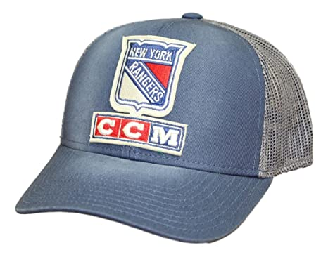 377383fffff Image Unavailable. Image not available for. Color  New York Rangers CCM NHL   quot Trucking quot  Structured Adjustable Mesh Back Hat
