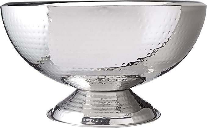 Elegance Hammered 3 Gallon Stainless Steel Doublewall Punch Bowl Amazon Ca Home Kitchen