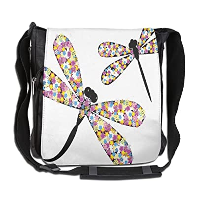 Lovebbag Butterfly Dragonflies With Colorful Alluring Wings And Black Bodies Print Crossbody Messenger Bag