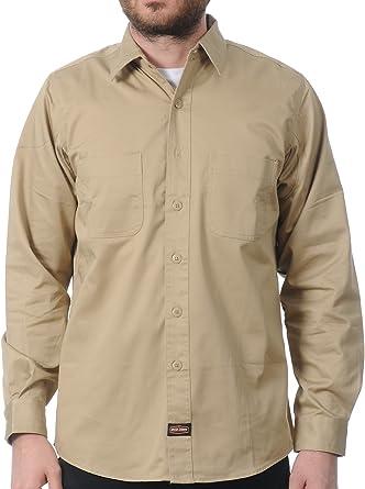 Camisa de trabajo manga larga Jesse James Heavy Duty Beige ...
