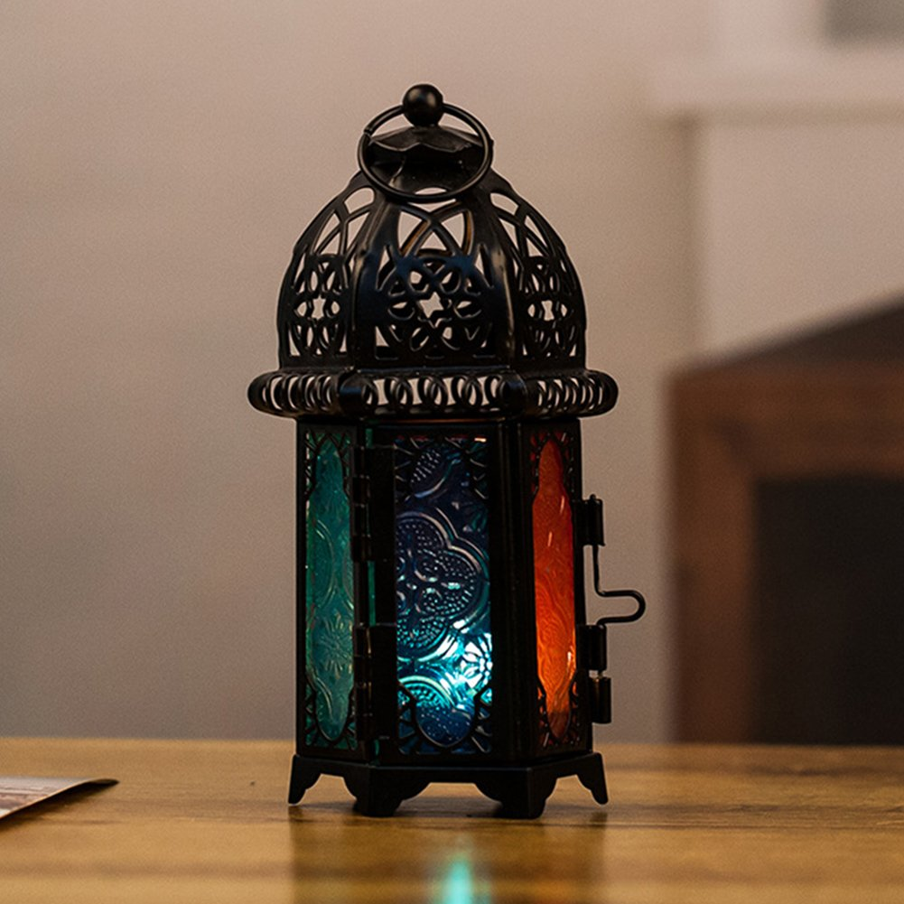 Homeofying Castle Hollow Out Candle Holders Candlestick Lighting Wedding Home Decoration Black