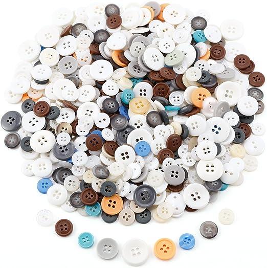 50 x Multicolor Mezcla Botones Botón/plástico Botones Camisa Botones Blusa botón Buttons costura Ropa Decoración Artesanía Manualidades DIY Scrapbooking grandes hasta 2 cm aprox.: Amazon.es: Hogar