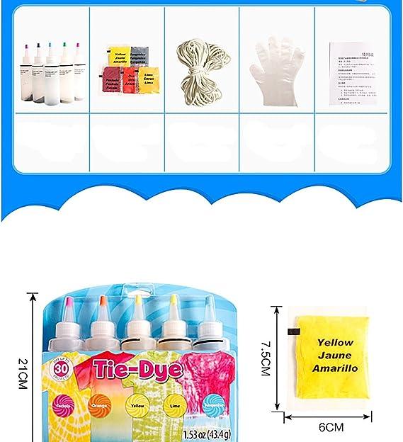 Kit de tinte tie-dye para algodón y lino de 3 colores #1