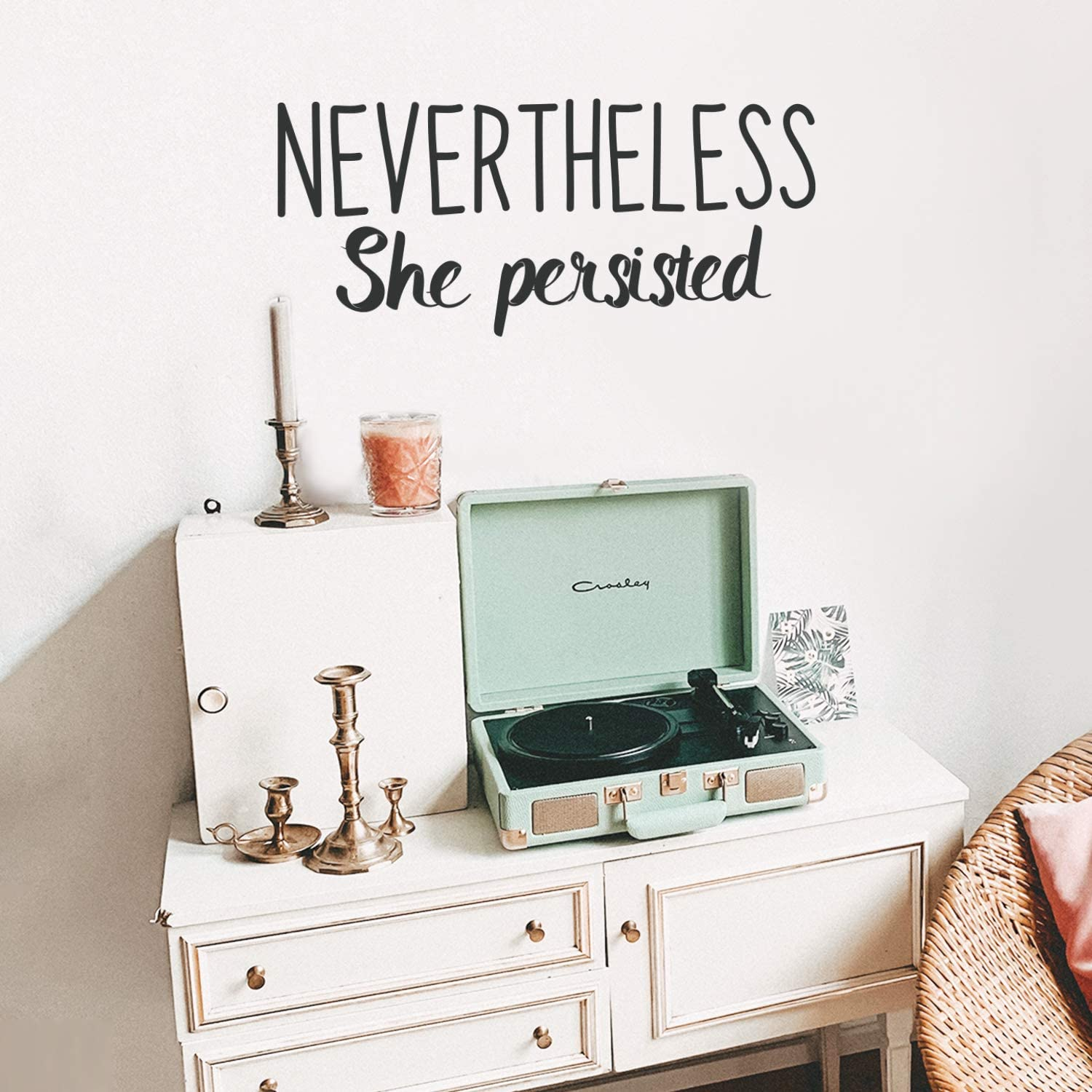 Vinyl Wall Art Decal - Nevertheless She Persisted - 15