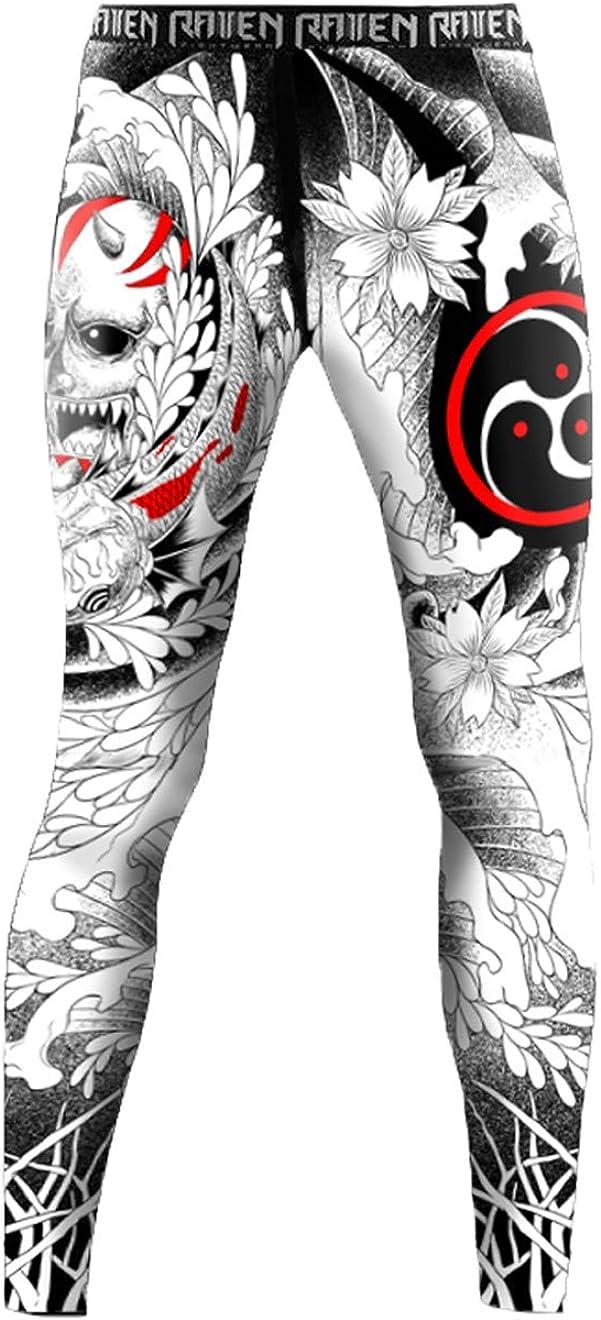 Raven Fightwear Mens Irezumi BJJ MMA Spats