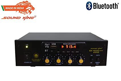 Sound King SK 4000-2 Ch Mixer Amplifier With Microphone Input