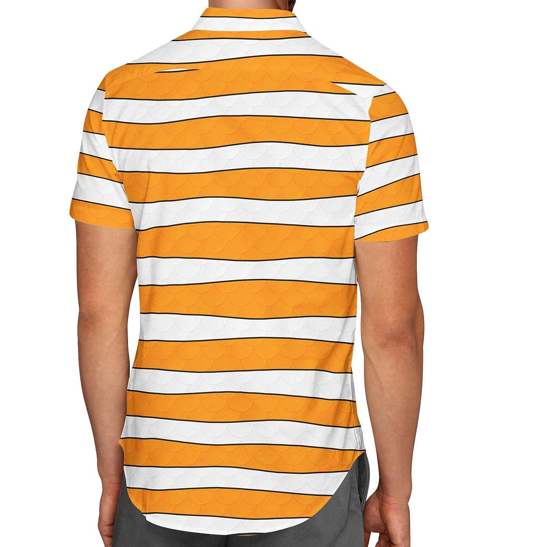 Clownfish Finding Nemo Disney Inspired Mens Button Down Short Sleeve Shirt