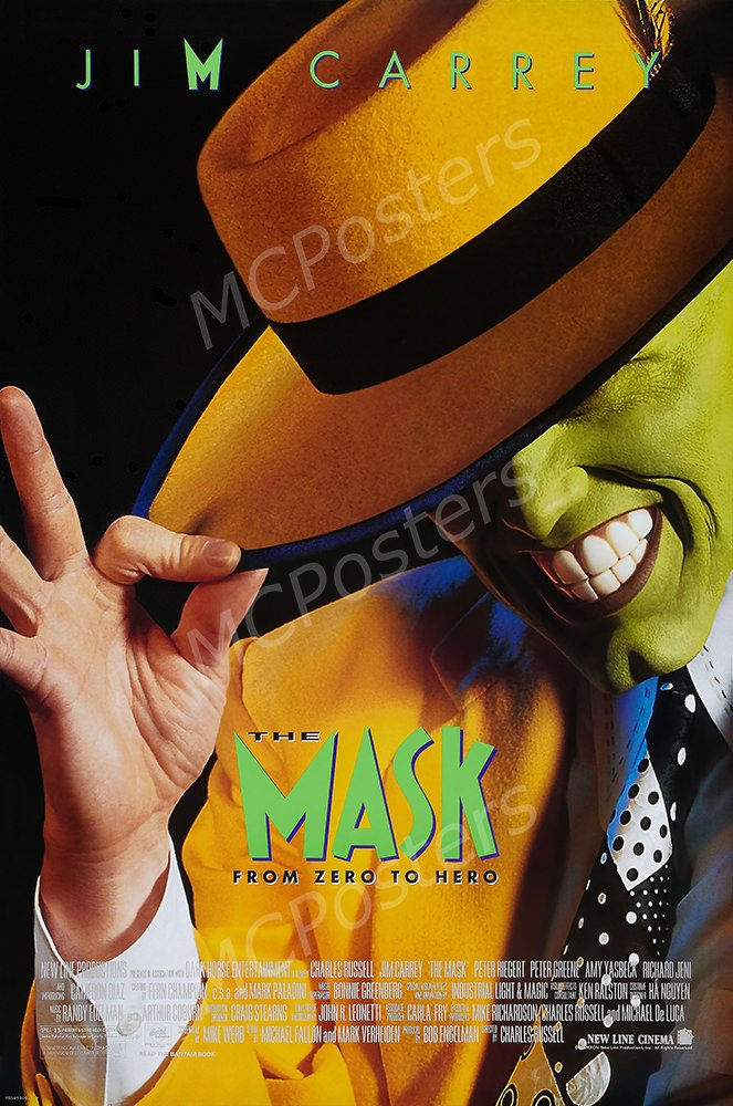 """MCPosters The Mask From Zero to Hero Jim Carrey GLOSSY FINISH Movie Poster - MCP419 (24"""" x 36"""" (61cm x 91.5cm))"""