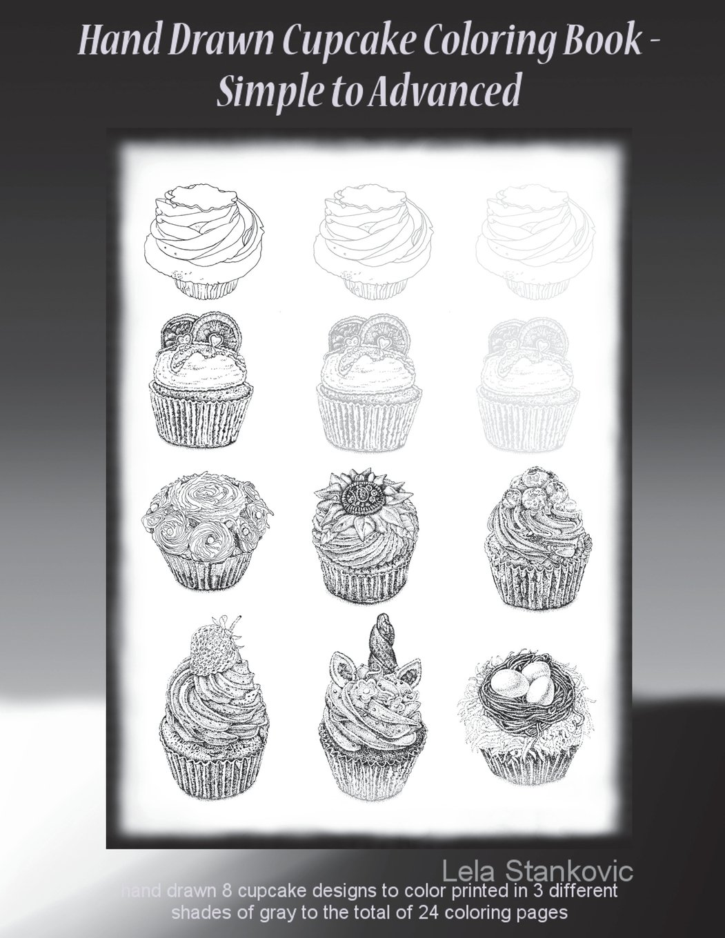 Amazon Com Hand Drawn Cupcake Coloring Book Simple To