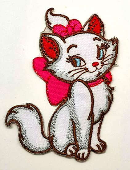 e5ed77621 Image Unavailable. Image not available for. Color: Powerwolf2008 Marie Cat  Kitten Kitty Disney Patch Symbol Jacket T-Shirt ...