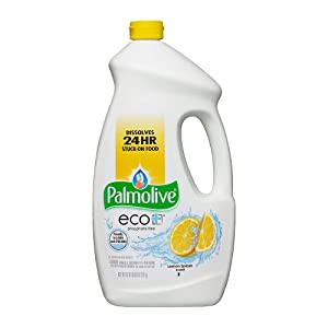 PALMOLIVE eco+ Lemon Splash Automatic Dishwashing Gel, Dish Soap, 75 Fluid Ounce Bottle (Case of 6) (Model Number: 42706CT)