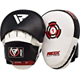 RDX Boxing Pads Focus Mitts |Maya Hide Leather Curved Hook and Jab Target Hand Pads | Great for MMA, Kickboxing, Martial…