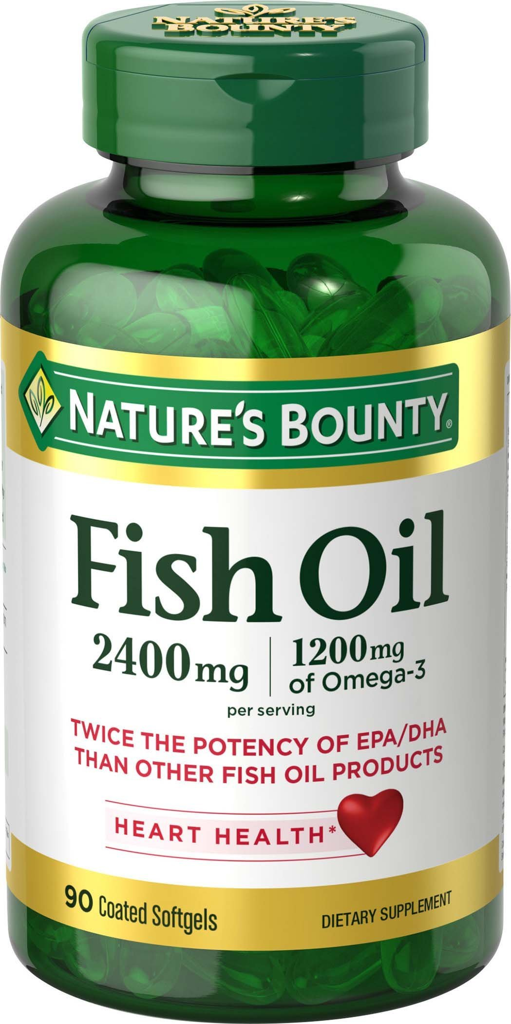 Nature's Bounty Fish Oil 2400 mg Softgels, 90 ea by Nature's Bounty