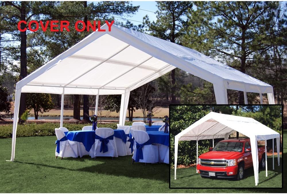 King Canopy White Fitted Cover