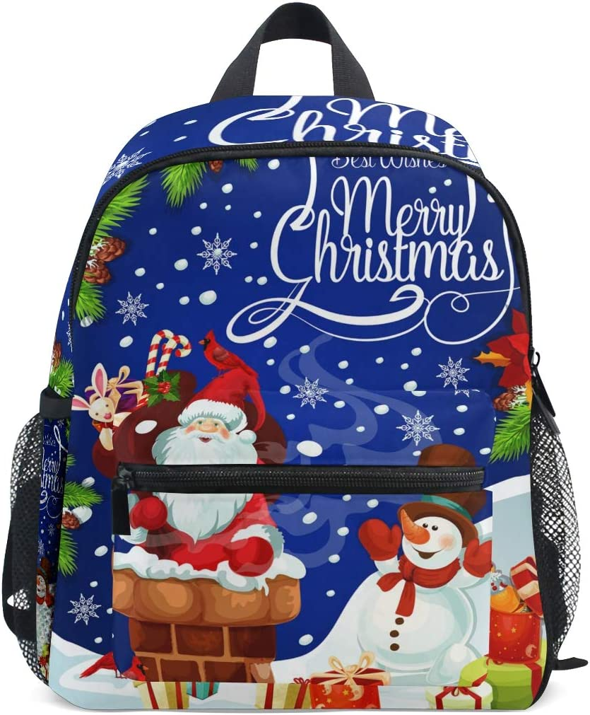 DOSHINE Mochila para niños pequeños, Regalo de Papá Noel, muñeco de Nieve, Bolsa de Libro Preescolar para niños y niñas