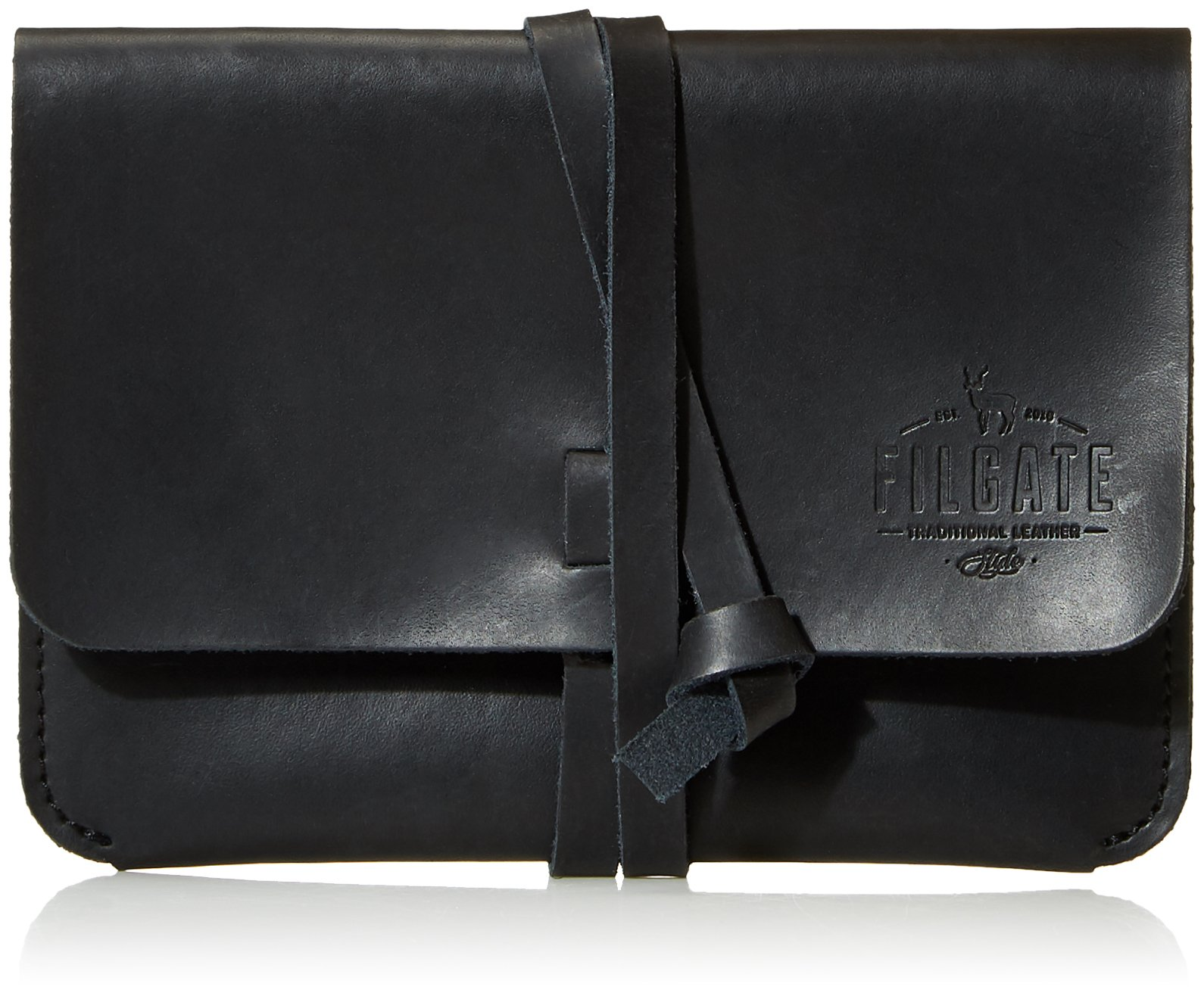 Filgate Leather Passport Holder & Travel Wallet Secure Organizer for Credit Cards, Cash with Passport Leather Strap Black