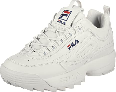 Fila Disruptor Women's Low Trainers Beige Size: 4 UK: Amazon ...