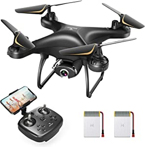 SNAPTAIN SP650 Pro 2.7K Drone with Camera for Adults 2.7K HD Live Video Camera Drone for Beginners w/Voice Control, Gesture Control, Circle Fly, High-Speed Rotation, Altitude Hold, Headless Mode