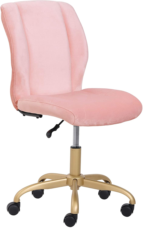 Mainstays Plush Velvet Office Chair, Multiple Colors