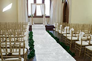 TRLYC 48Inch by 15FT Wedding Sequin Aisle Runner Marriage Ceremony Bridal Carpet Wedding Aisle Runner Indoor Wedding Aisle Runner-Silver