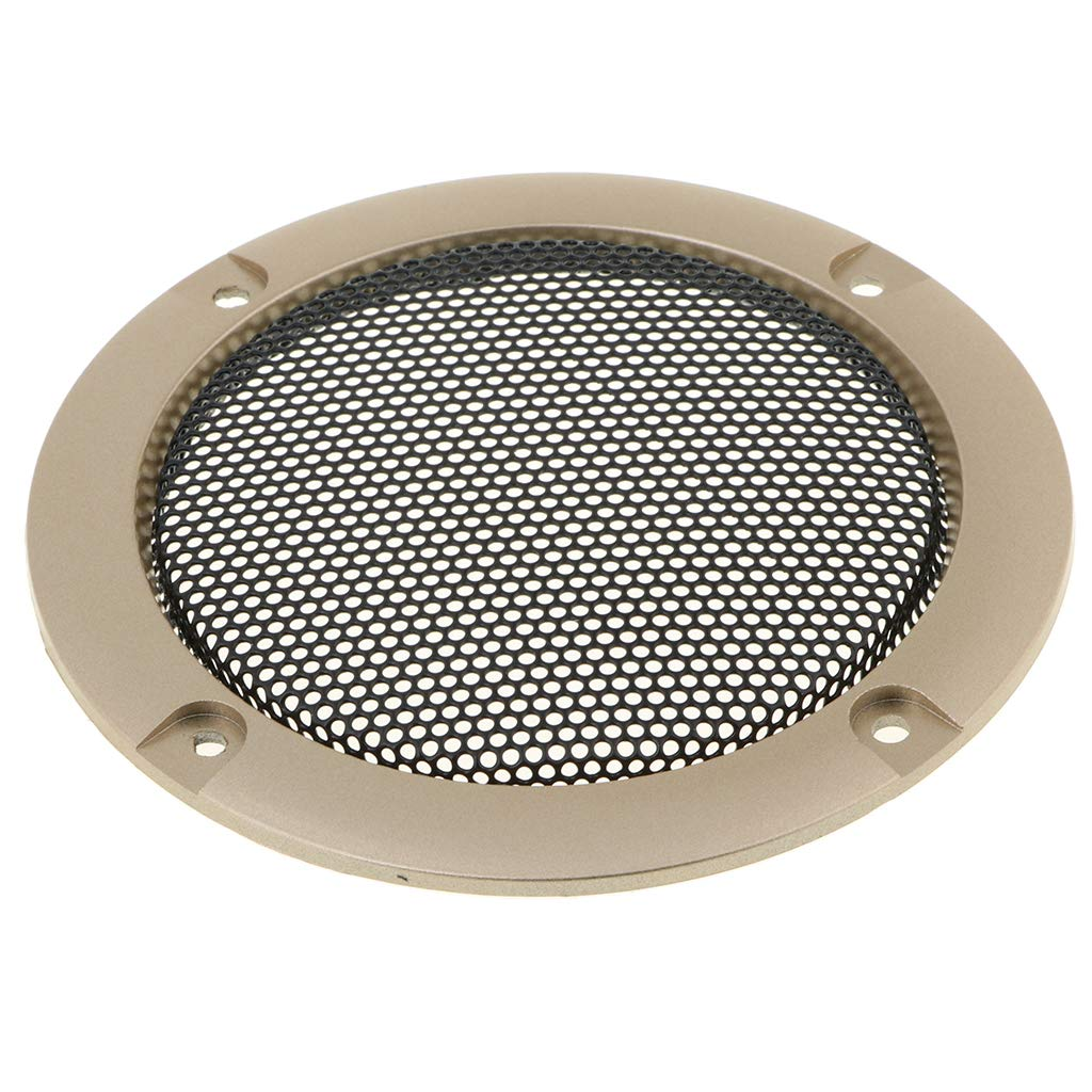 Almencla Speaker Decorative Circle, Speaker Grills Cover Guard Protector with Protective Grille Mesh 3inch - Gold, as described