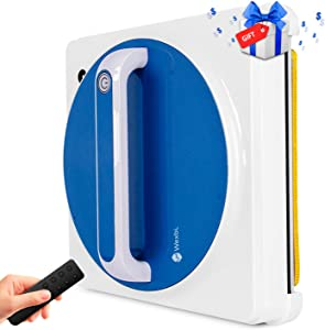 Window Cleaner Robot, Smart Window Cleaning Robot Mop with APP and Remote Control, Automatic Robot Cleaner for Indoor/Outdoor Window Washing with a Gifts for You