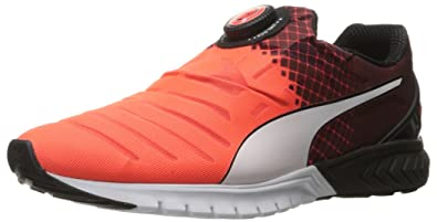 Mens Puma Ignite Dual Disc Red Black White Running Shoes Z68936