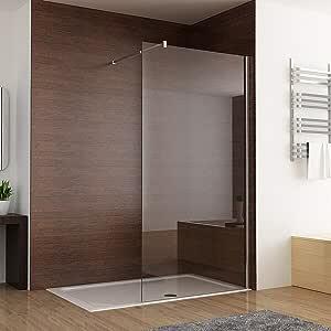 MIQU - Mampara de ducha (1000 mm, 8 mm, fácil de limpiar, nano ...