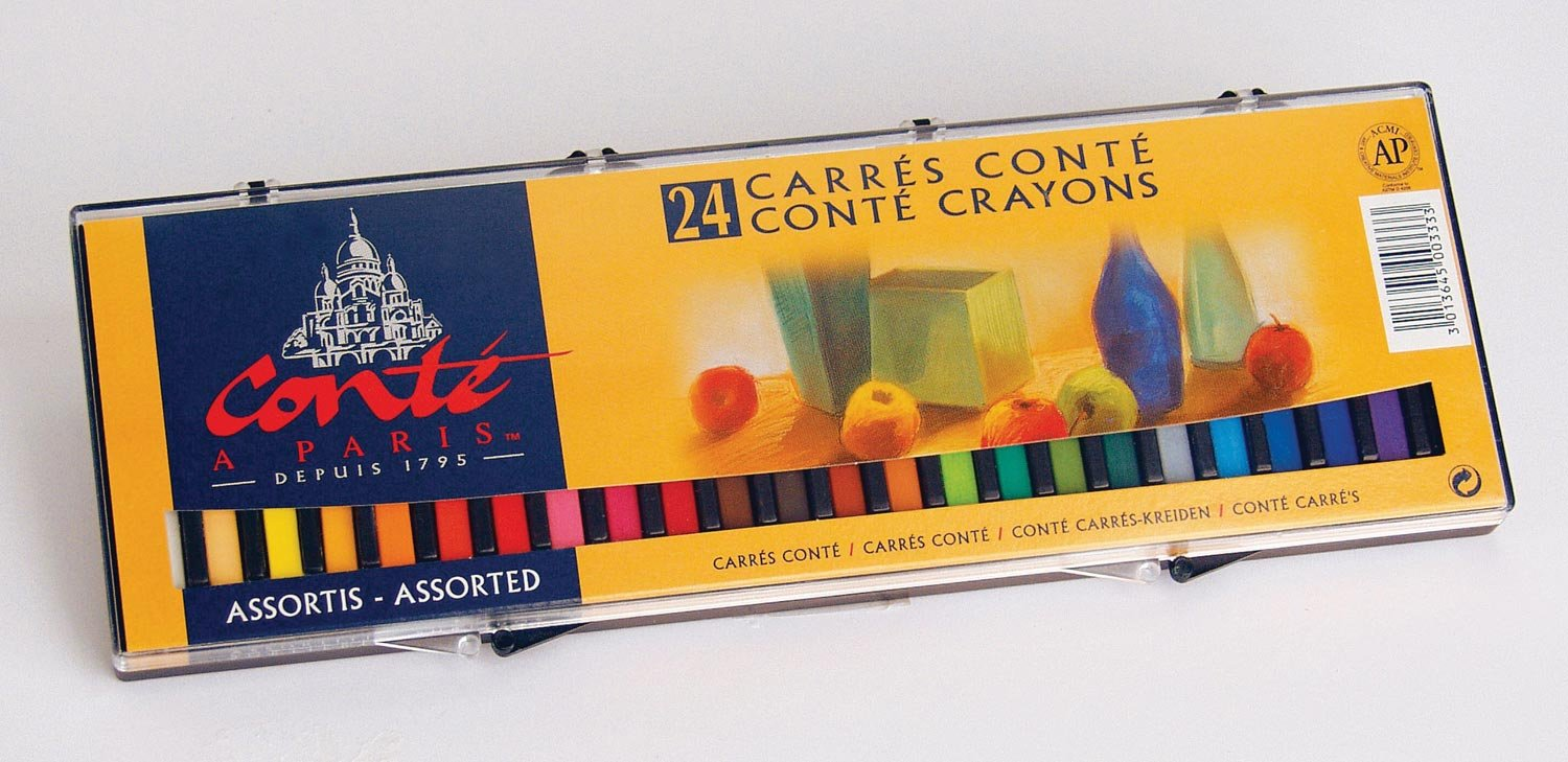 Conte Crayon 24 Assorted Set Colart Fine Art & Graphics Ltd 9500333
