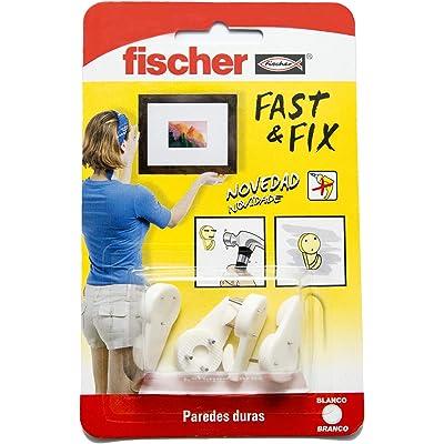 Fischer Colgador 3 Puntas Fast & Fix (Envase de 4 Ud.), 534844, Blanco