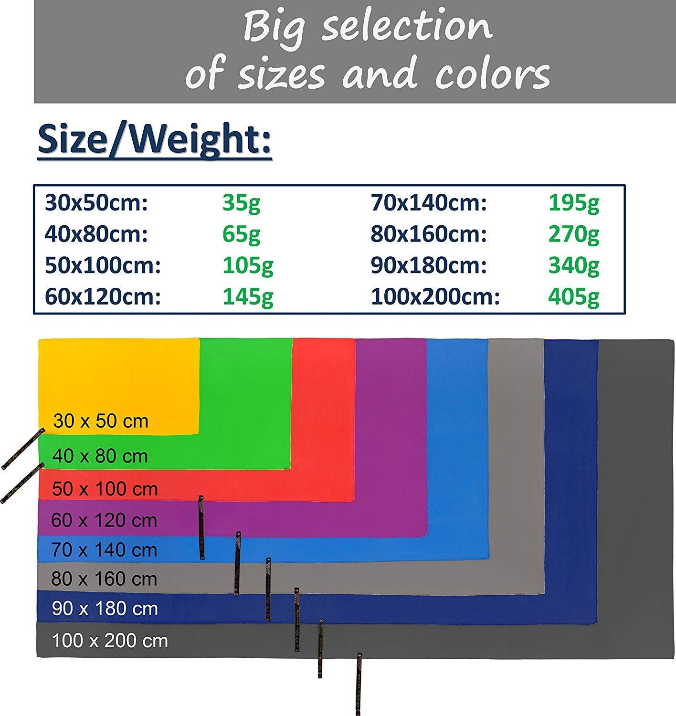 Fit-Flip Toalla de Microfibra en Todos los tamaños / 12 Colores - compacta, Ligera y Ultra absorbentetoalla de Playa, Toallas para Gimnasio, Grande ...