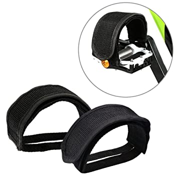 1 Pair Black Nylon Pedal Straps Fixed Gear Fixing For Plat Form Pedals Bicycle