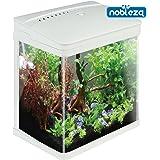 Nobleza - Acuario de Cristal con Cubierta y Luces LED. Sistema de Filtro de 7 litros. Color…