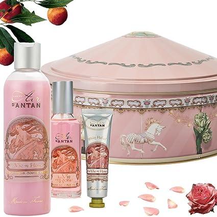 Caja Regalo Belleza Rose Mujer, 1 Colonia 55ml, 1 Gel de Ducha Hidratante 250ml