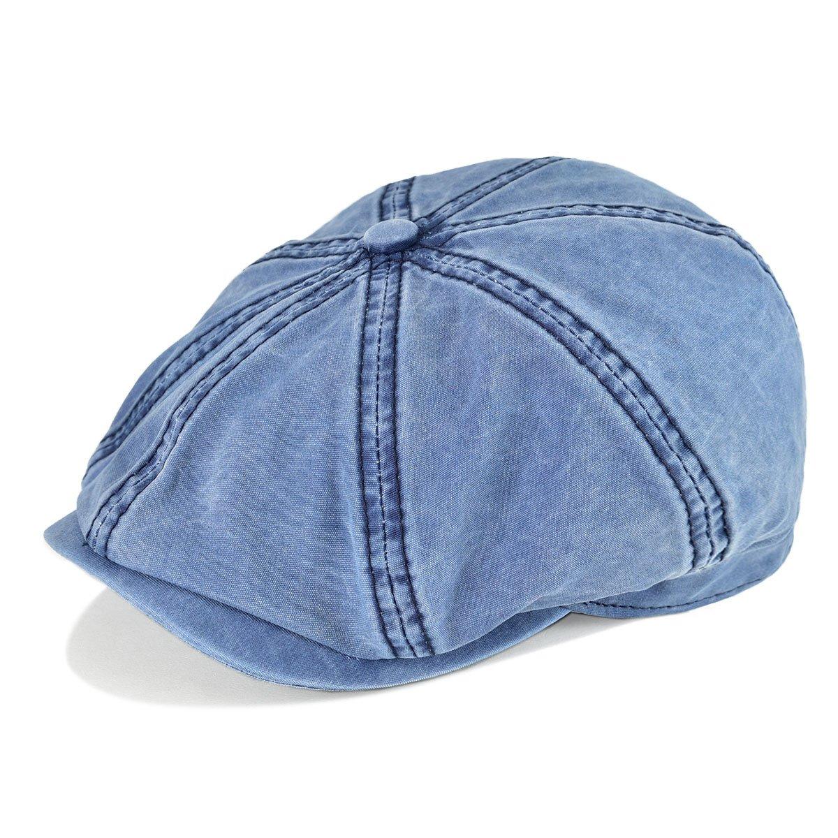 b5199acfe VOBOOM 100% Washing Cotton Newsboy Caps Classic 8 Pannel Retro ...