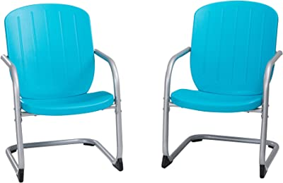 Lifetime Outdoor Retro Patio Chair, 2 Pack, Blue